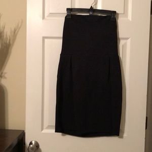 Black tube top dress from express
